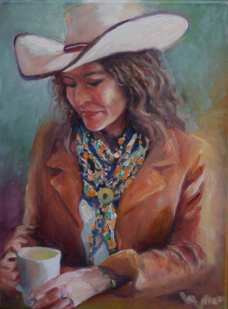 Portrait of Lynda Baxter by Calgary Artist Angie Hill